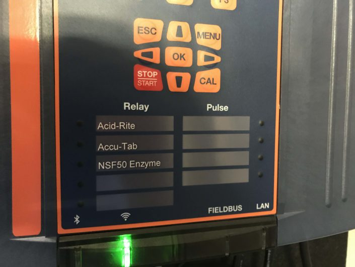enzyme feeder, pool chemical controller, NSF pool chemical, NSF pool enzyme, Orenda enzymes