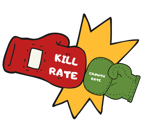 sanitization race, kill rate vs growth rate, chlorine kill