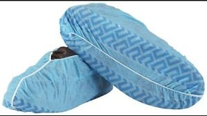 shoe coverings for pool deck, disposable shoe covers, hospital booties