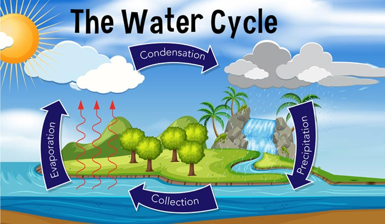 water cycle, earth water cycle, evaporation, condensation, dew point, precipitation